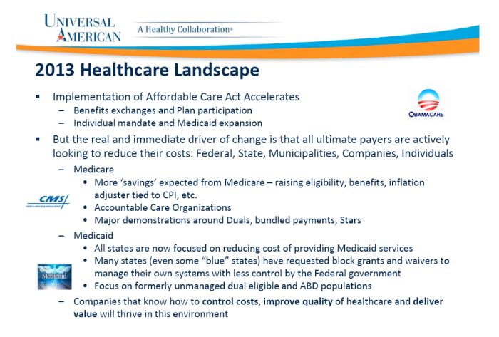 Universal American Healthcare Landscape