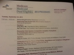 AHIP Medicare, Medicaid, Duals DC 2013