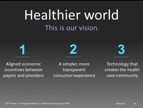 JPM14 Aetna healthier world