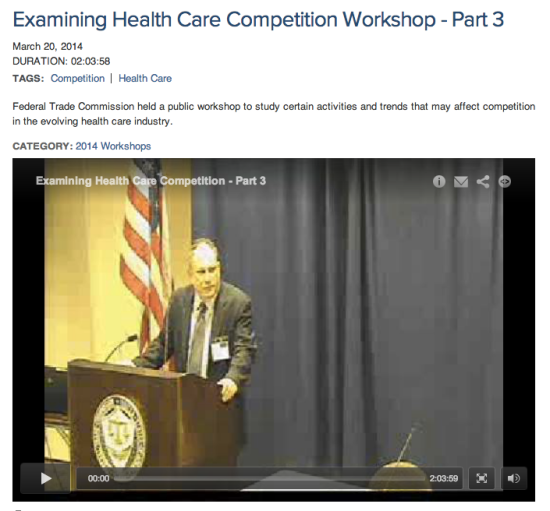 Examining Health Care Competition Workshop - Part 3