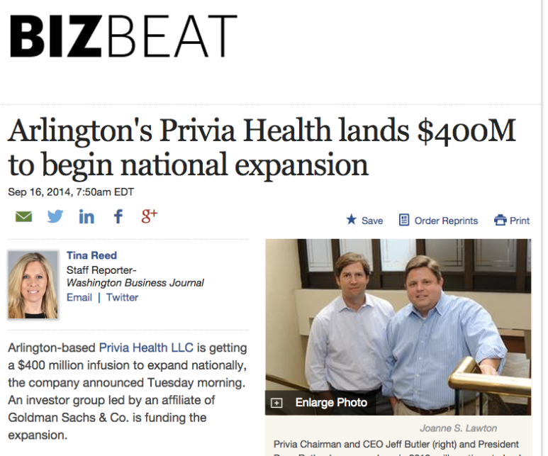 Arlington's Privia Health lands $400M to begin national expansion