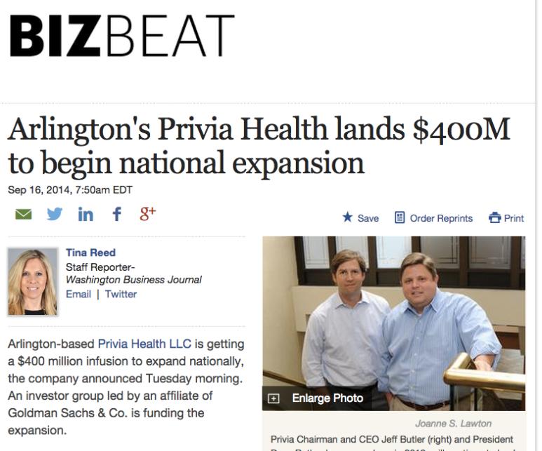 Arlington's Privia Health lands $400M to begin national expansion