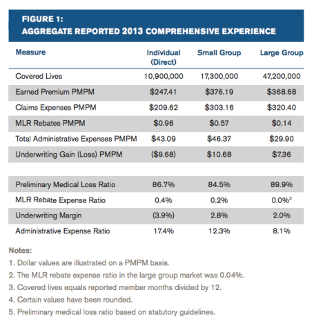 Milliman Health 2013 Briefing Paper ACA Results