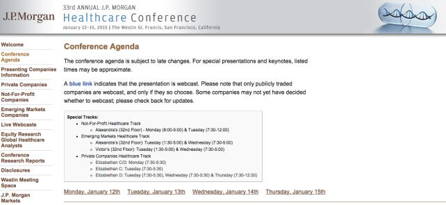 JP Morgan 22rd Annual Healthcare Conference