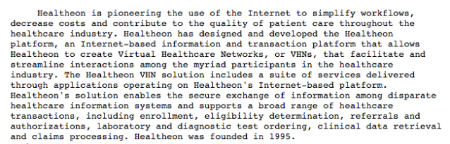Healtheon Company description